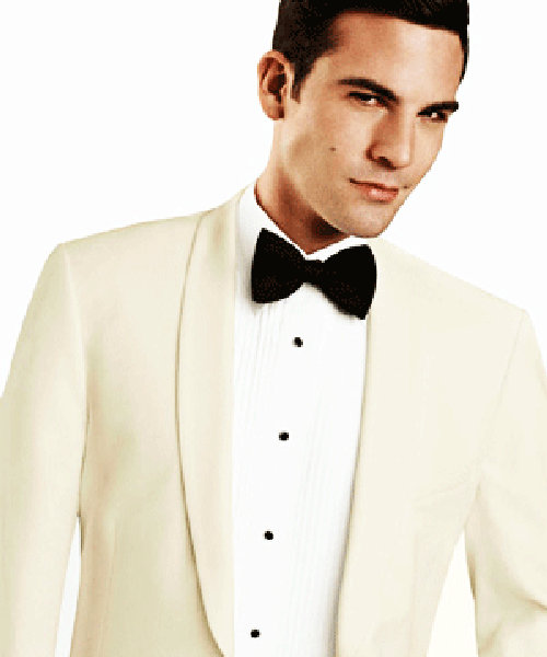 Slim Fit White Dinner Jacket