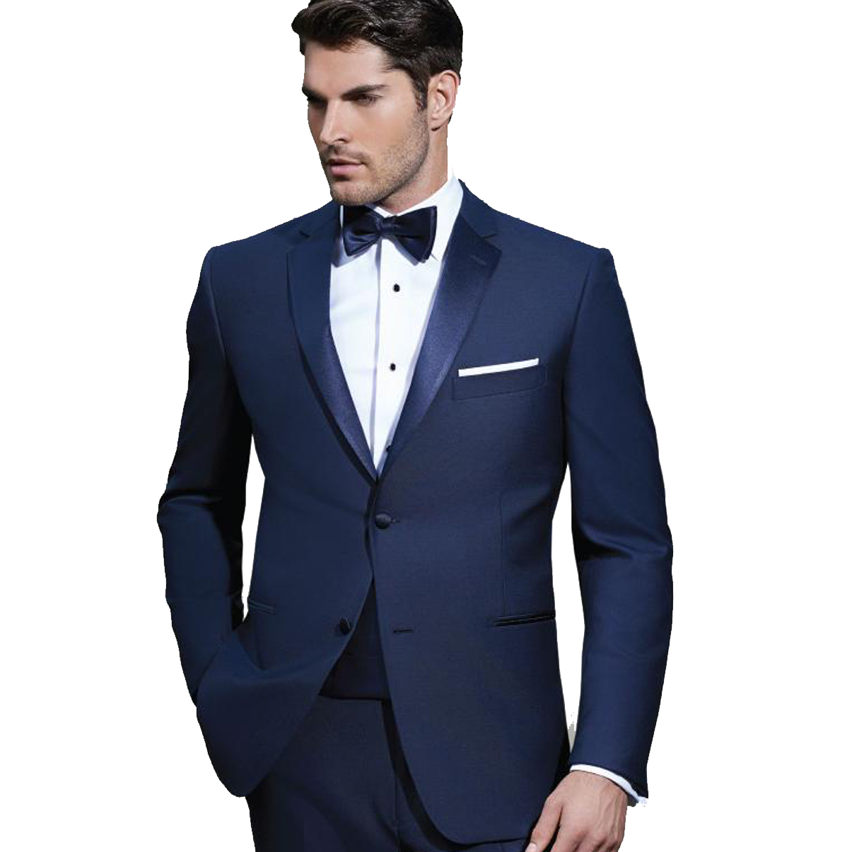 Ike Behar Navy Two Button Notch Tuxedo