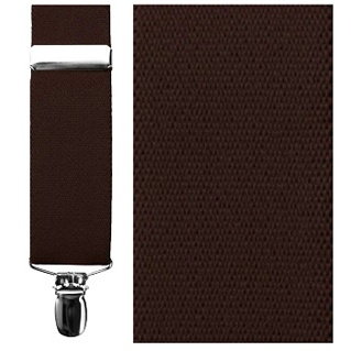 Brown Elastic Clip Suspenders