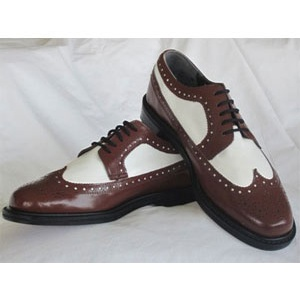 Brown And White Wing Tip With Thick Soles