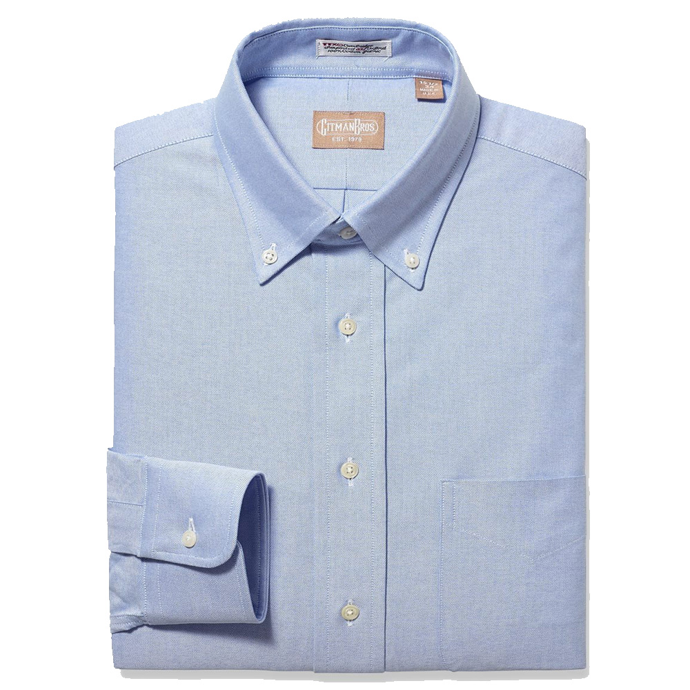 Gitman Button Down Blue Oxford Dress Shirt