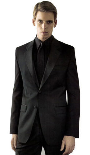 Calvin Klein Myer Two Button Black Slim Fit Tuxedo