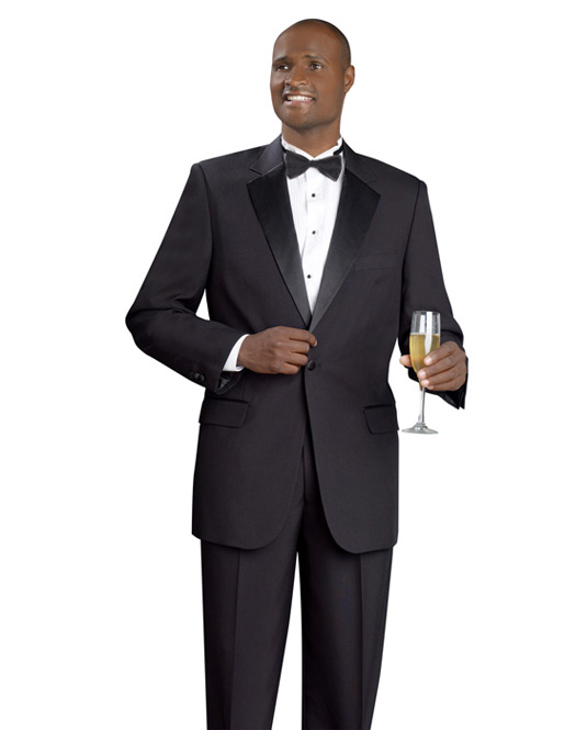 Black One Button Tuxedo Package