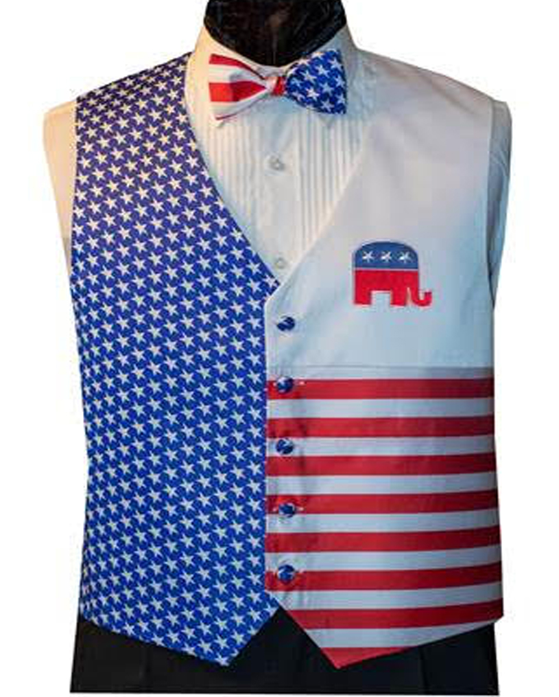 Party On Republican Vest and Bow Tie Set