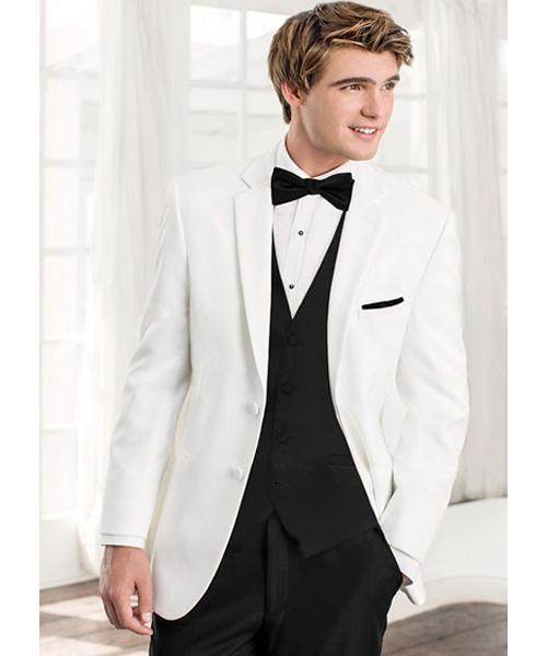 Jean Yves Slim Fit White Dinner Jacket