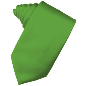 Kelly Green Solid Satin Necktie
