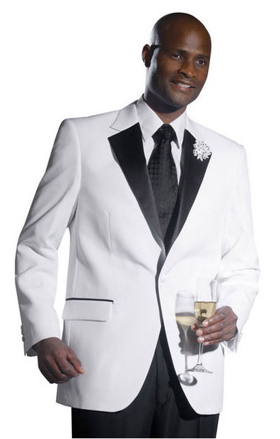 White Notch Lapel With Black Trim Tuxedo Package 111tp