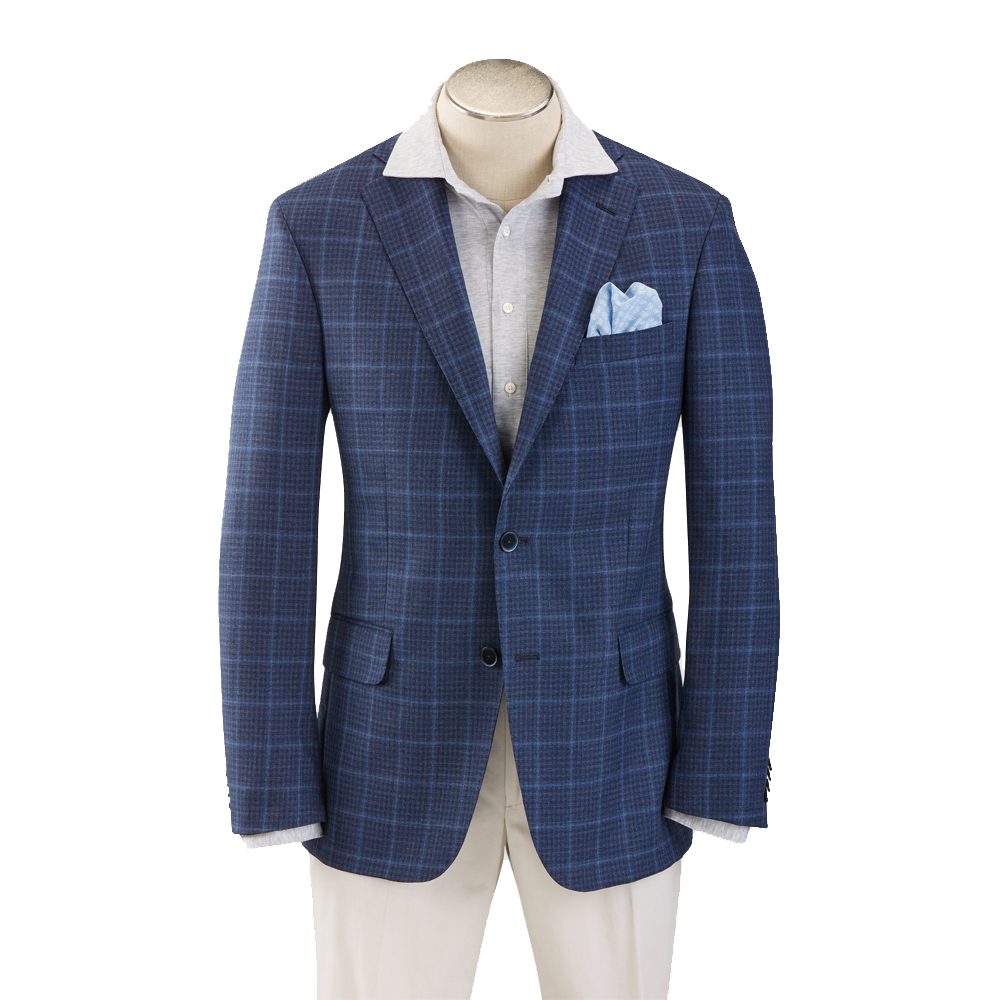 Hardwick Modern Fit Blue Check with Windowpane Sport Coat