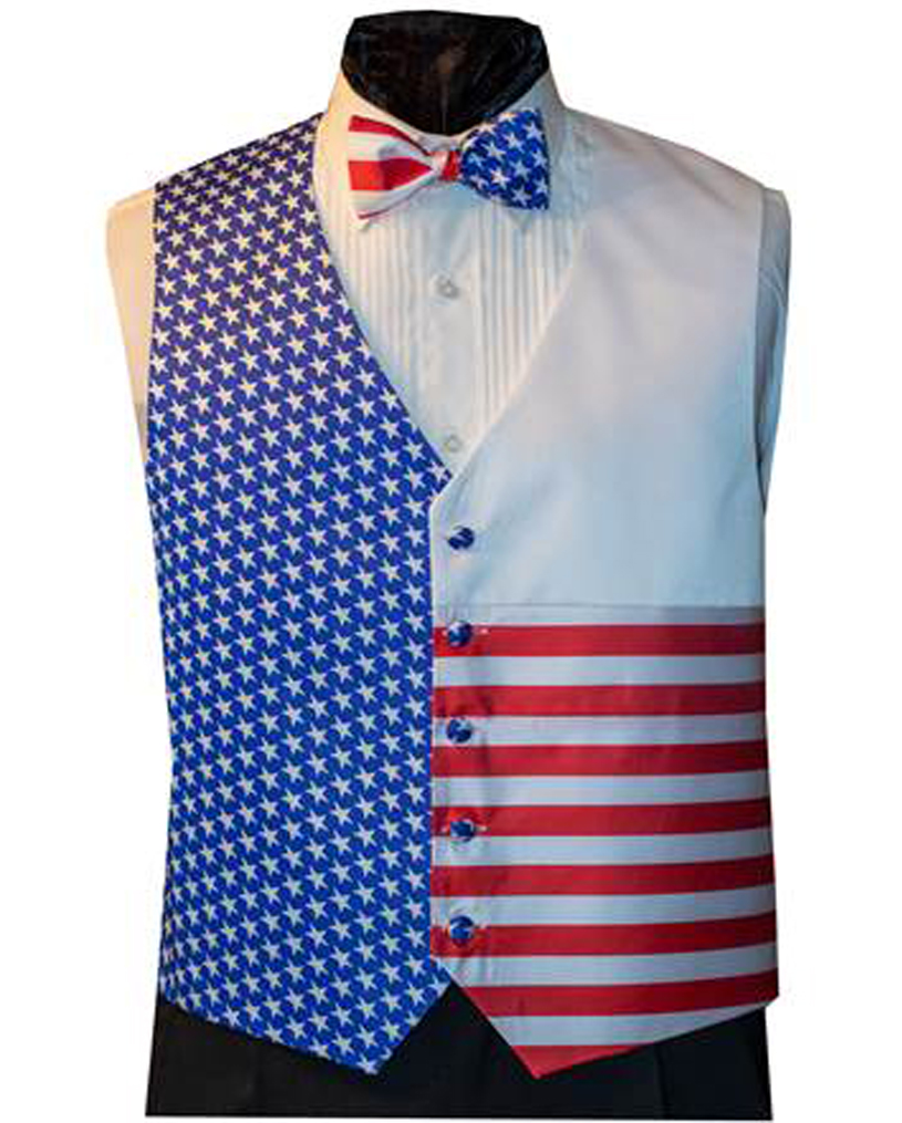 New Patriotic Vest and Bow Tie Set