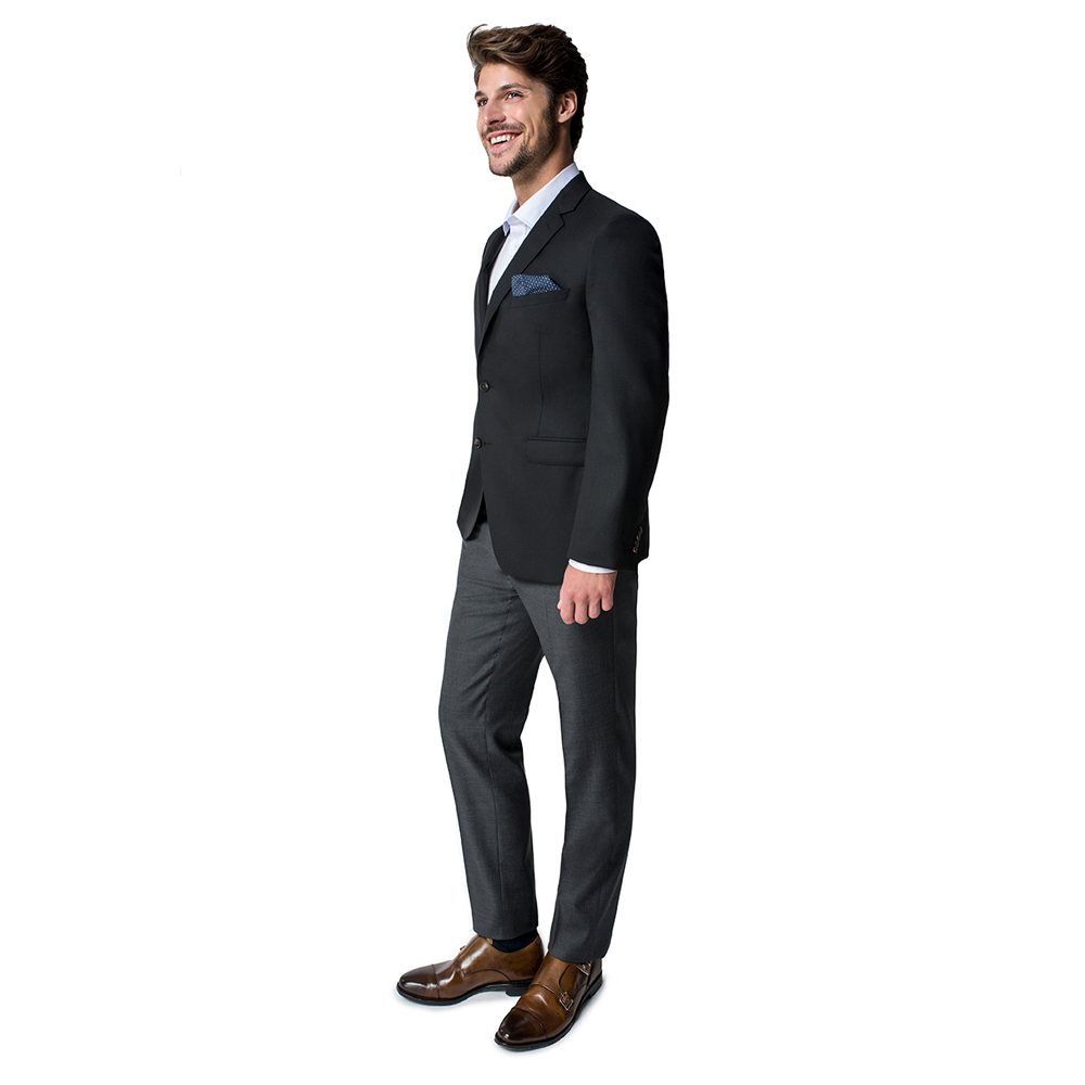 Paul Betenly Men's Trim Fit Black Blazer
