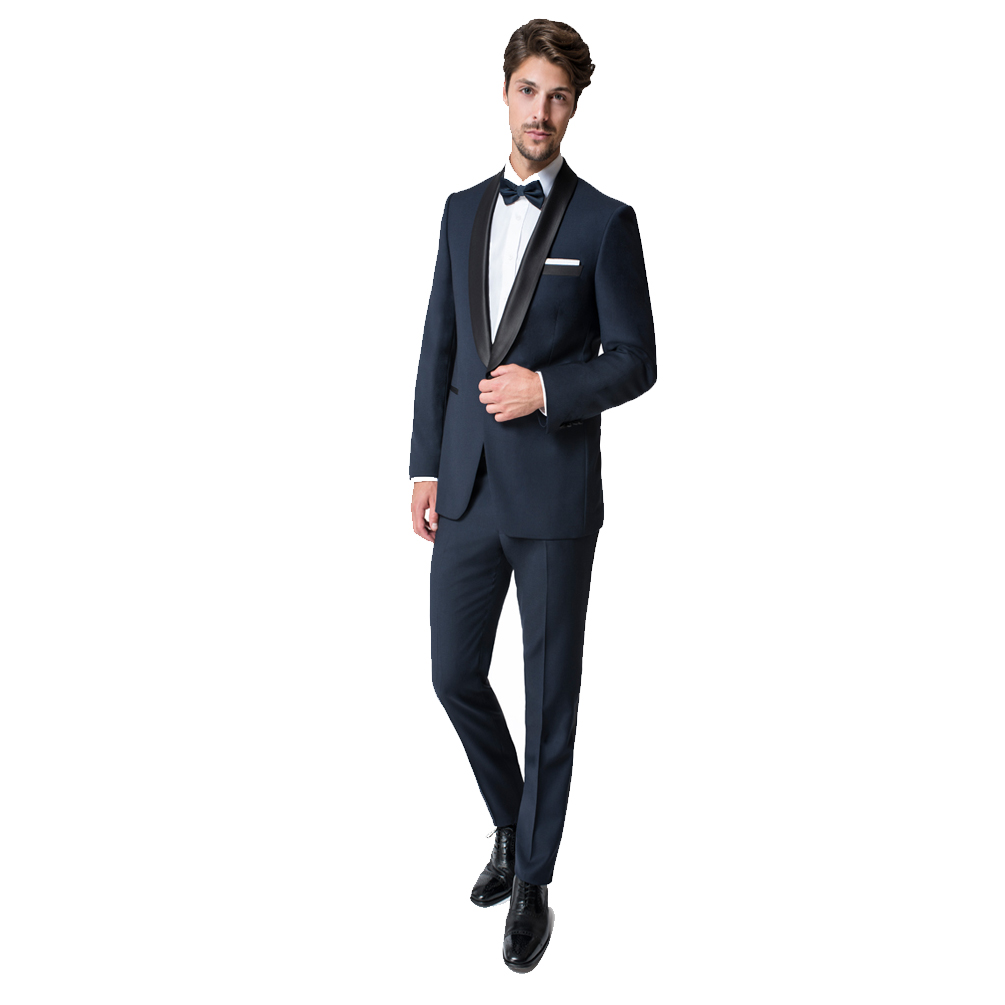 Paul Betenly Navy Slim Fit Tuxedo with Black Shawl Lapel