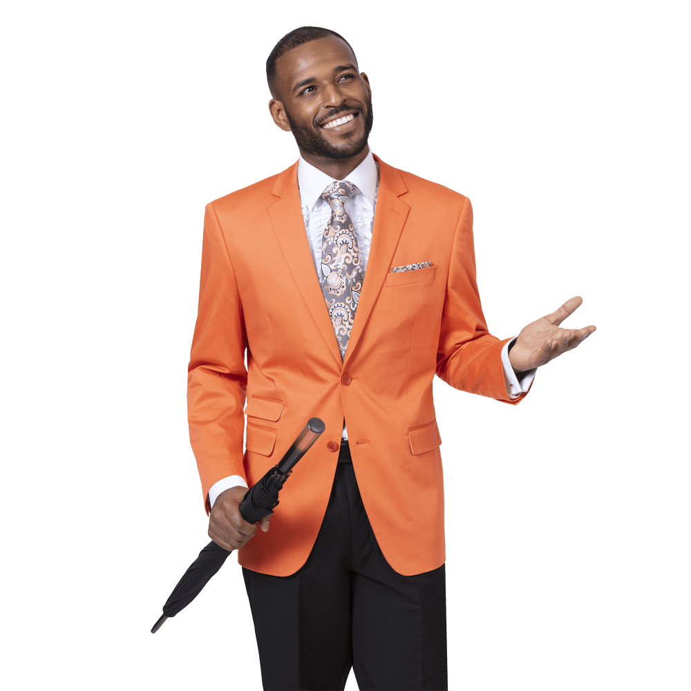 EJ Samuel Men's Slim Fit Orange Fashion Blazer