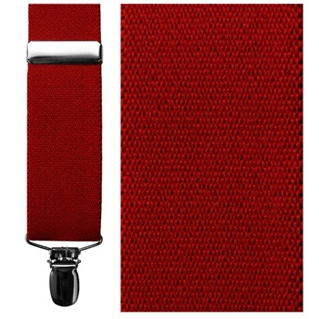 Red Elastic Clip Suspenders