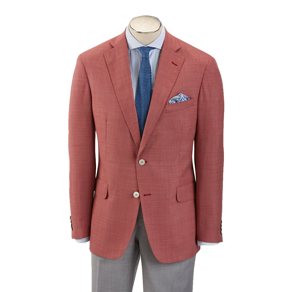 Hardwick Modern Fit Red Tropical Wool Sport Coat