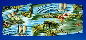 Tropical Seamist Green Cummerbund and Bow Tie Set