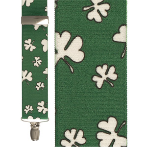 Lucky Shamrock Suspenders