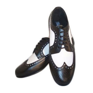 Black and White Wing Tip Dress Shoes