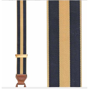 Trafalgar Chase Stripe Navy Big and Tall Suspenders