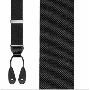 Trafalgar Hudson Black Big and Tall Suspenders
