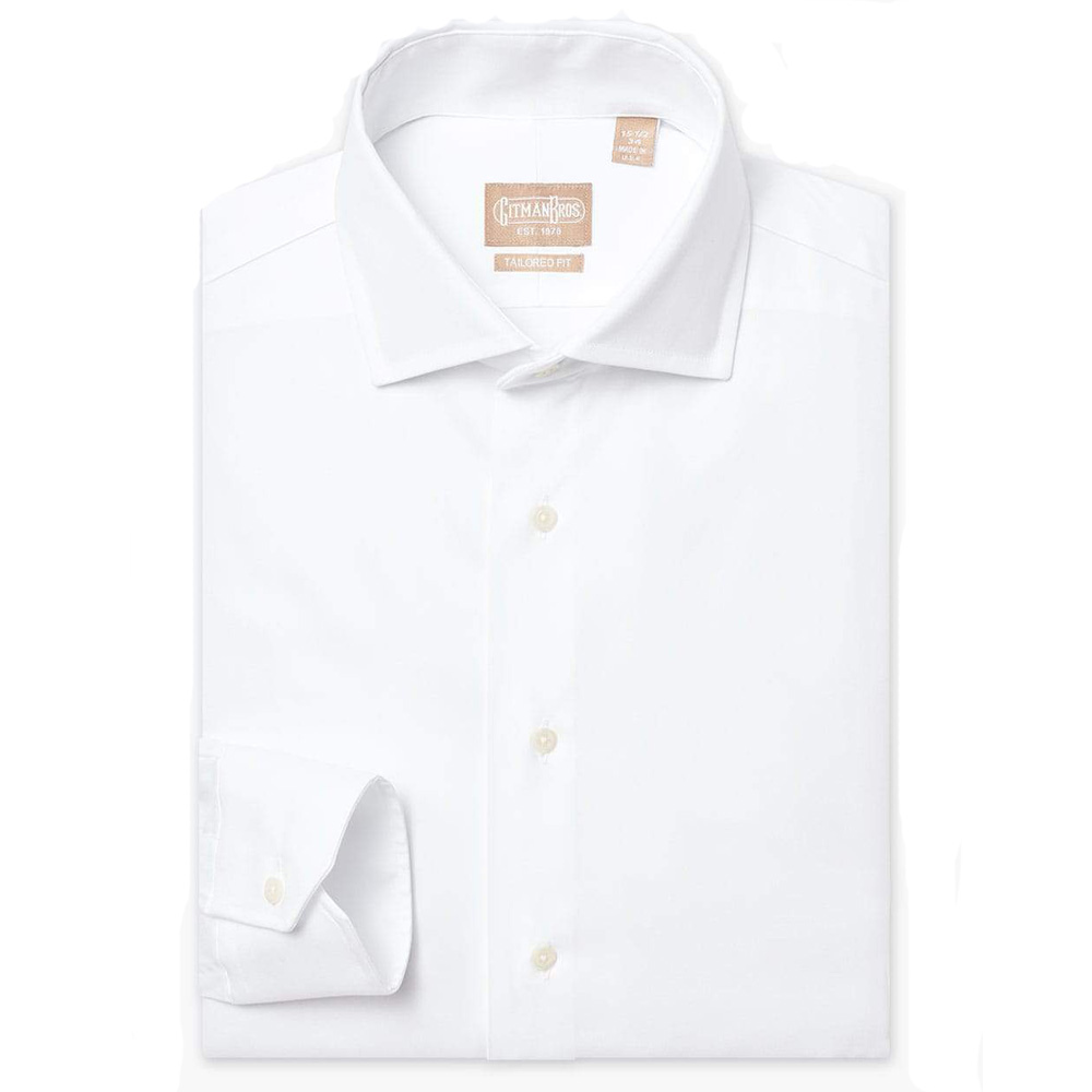 Gitman 100's White Pinpoint MX2 Dress Shirt